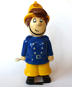 Vintage ERTL Wind Up Fireman Sam Figure