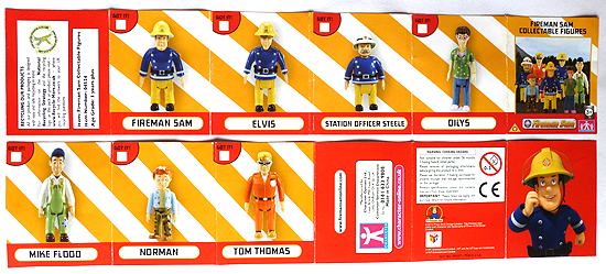 Fireman Sam Collectable Figures Checklist Leaflet