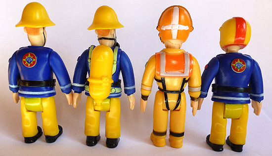 Fireman Sam Figures (Rear View)