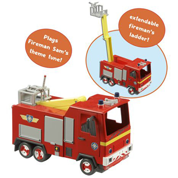 Fireman Sam's Jupiter Fire Engine
