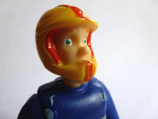 Fireman Sam in Quad Bike Helmet